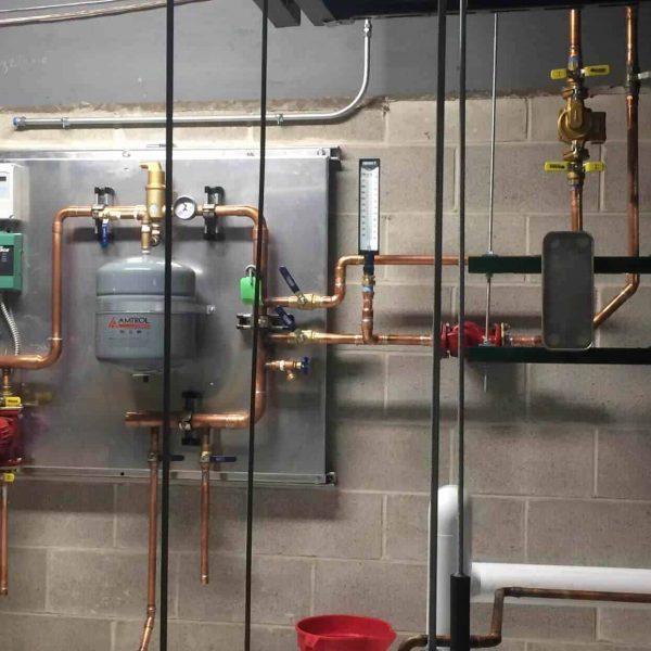 Glycol-Underfloor-Heat-Control-Panel-and-Heat-Exchanger