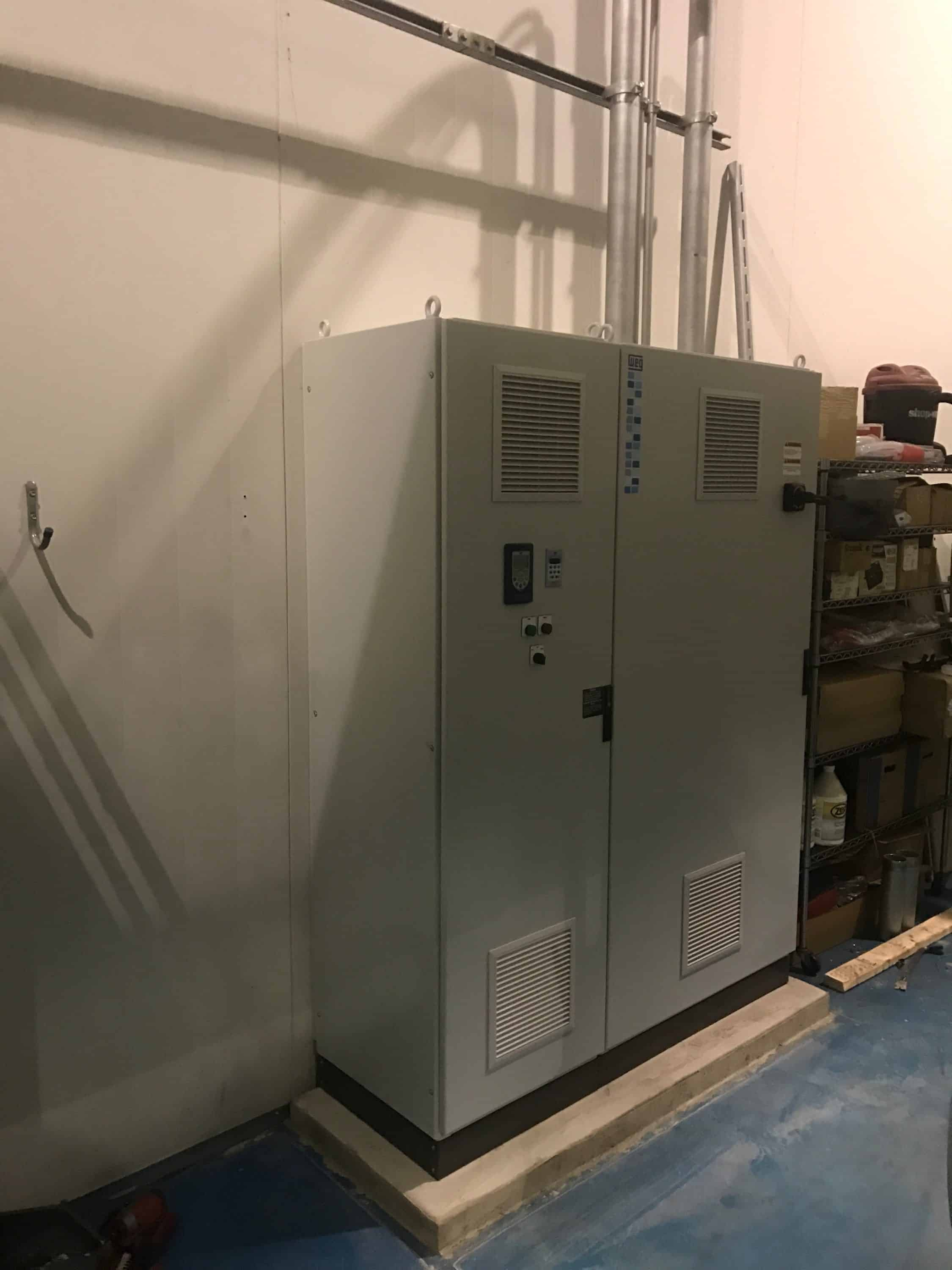 Vfd Conversion 250hp Ammonia Package D Amp H Refrigeration