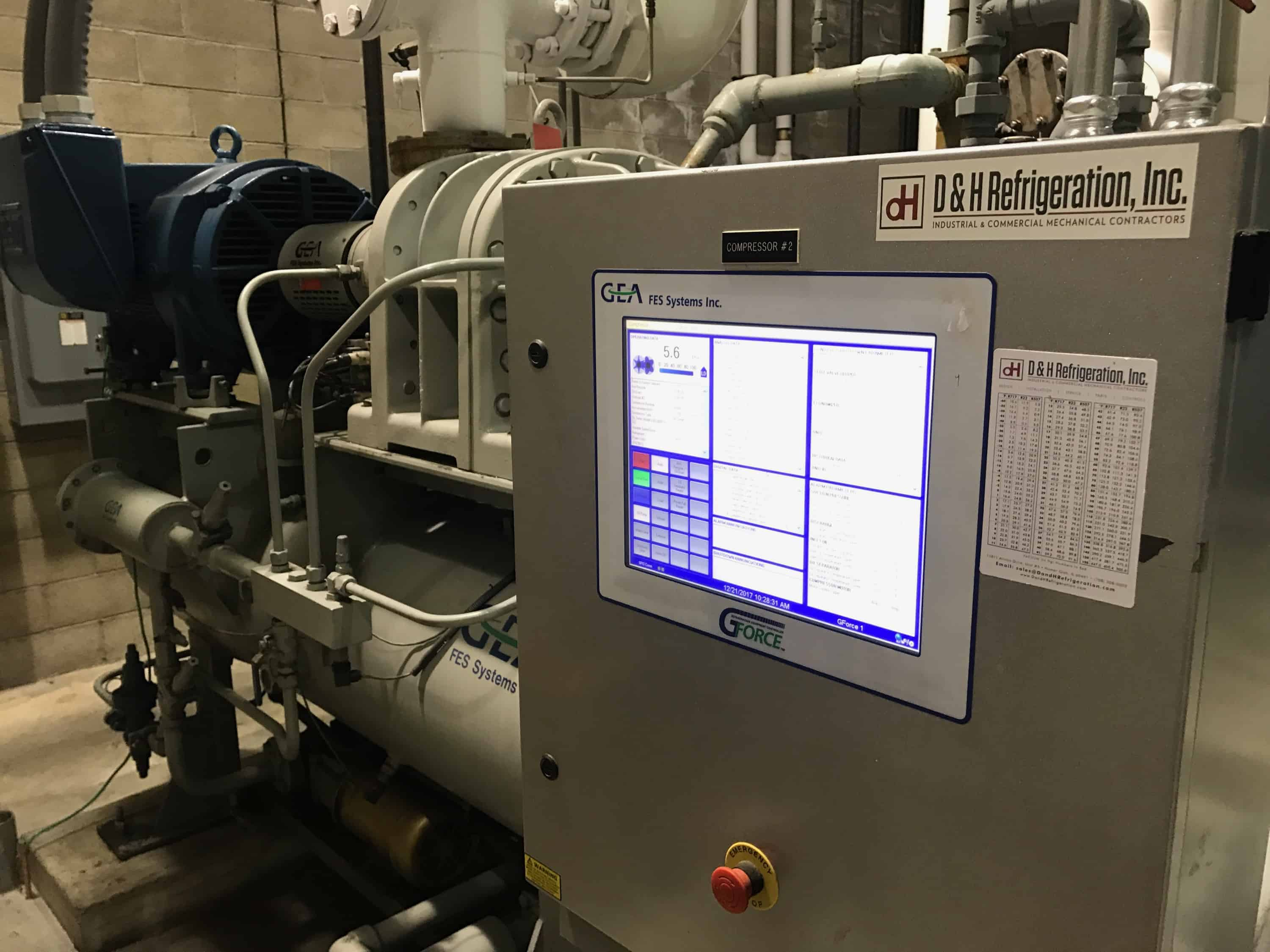 Vfd Conversion 400hp Ammonia Package D Amp H Refrigeration