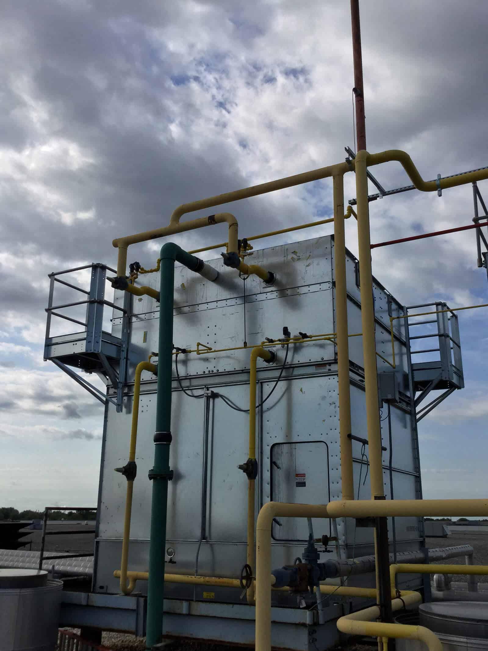 Ammonia Condenser Installation